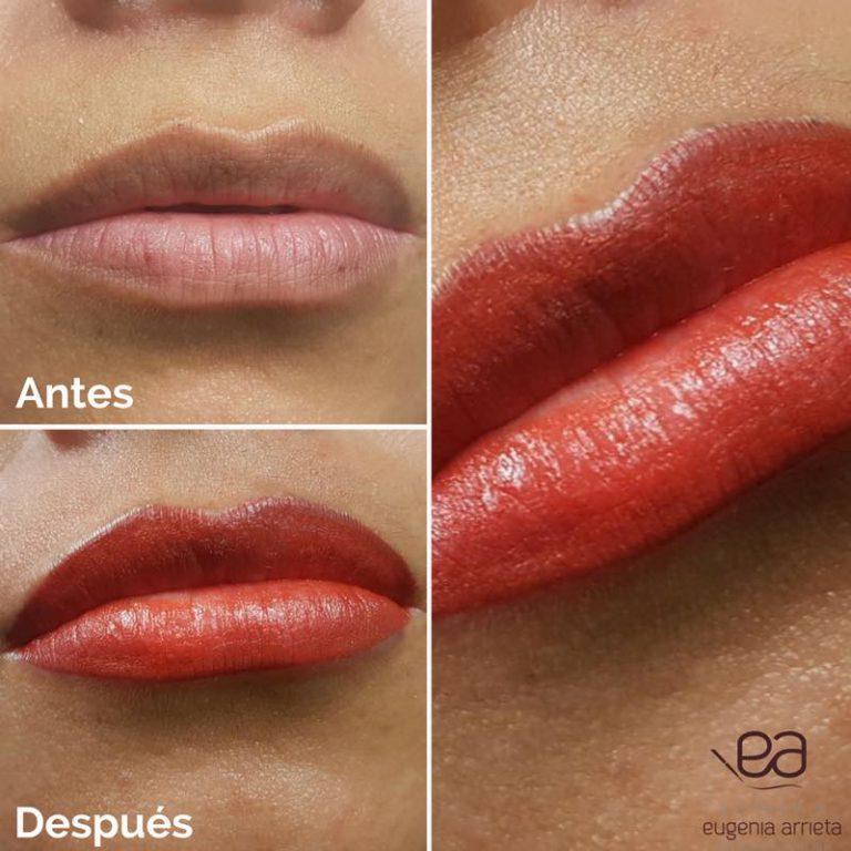 Micropigmentación de labios Eugenia Arrieta Micropigmentación