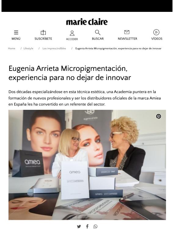 Entrevista Marie Claire al Equipo de Arrieta Micropigmentación